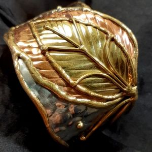 Artisan Cuff- Copper, Brass & Steel